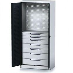 Szafa warsztatowa mechanic, 1950 x 920 x 500 mm, 1 półki, 7 szuflad, antracytowe drzwi marki B2b partner