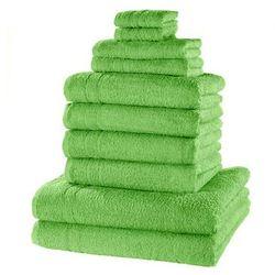 """Komplet ręczników """"new uni deluxe"""" (10 części) zielone jabłuszko marki Bonprix"""