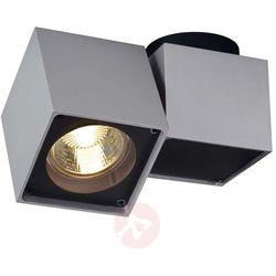 Slv Lampa punktowa 151524 gu10, (dxsxw) 15 x 7 x 10 cm, srebrno-szary, czarny
