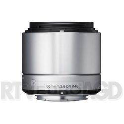 a 60mm f/2.8 dn srebrny sony e - produkt w magazynie - szybka wysyłka! od producenta Sigma