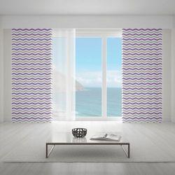 Zasłona okienna na wymiar - FLAT ZIGZAGS VIOLET II