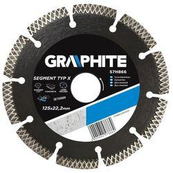 Tarcza do cięcia GRAPHITE 57H866 125 x 22 mm diamentowa