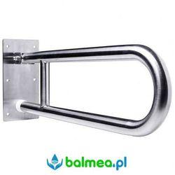 Faneco Poręcz uchylna dla niepełnosprawnych 800 mm stal nierdzewna matowa