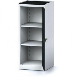 Szafa warsztatowa mechanic, 1170 x 490 x 500 mm, 2 półki, antracytowe drzwi marki Alfa 3