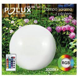 Polux Lampa solarna rgb z pilotem kula 40cm r3001-g (5901508311368)
