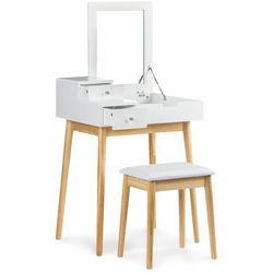 Modernhome Biurko, toaletka kosmetyczna, składane lustro, biała, , 76 cm