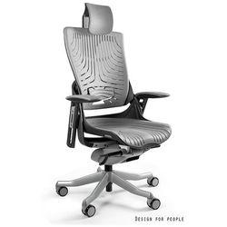 Unique Fotel ergonomiczny czarny wau 2 elastomer - szary, napisz otrzymasz rabat!