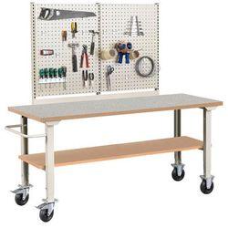 Mobilny stół roboczy solid 400, 2000x800 mm, winyl marki Aj produkty