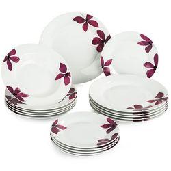 Banquet purple zestaw talerzy, 18 szt. marki 4home