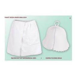 Produkcja własna Kilt ręcznik 50*140cm 100% bawełna + czapka biała do sauny a