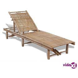 Vidaxl leżak plażowy, bambusowy (8718475909163)
