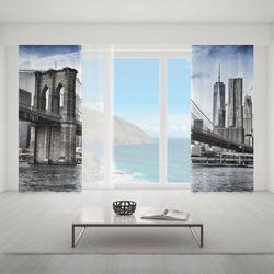 Zasłona okienna na wymiar komplet - BROOKLYN BRIDGE