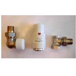 Zestaw zaworów termostatycznych osiowy lewy z głowicą prestige od producenta Vario term
