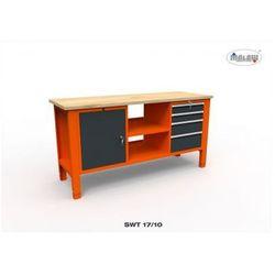 """Stół do warsztatu swt 17/10 """"trójka"""" 4 szuflady na klucz narzędzia marki Malow"""