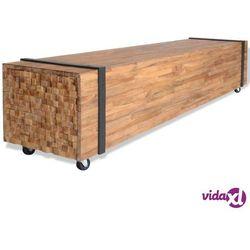 Vidaxl szafka pod telewizor z drewna tekowego, 150 x 30 cm