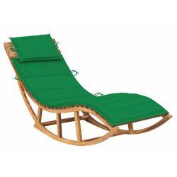 Zielony leżak ogrodowy z drewna na biegunach - afis 3x marki Elior