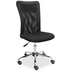 Czarne obrotowe krzesło biurowe q-122 marki Signal