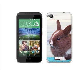 Foto case - htc desire 320 - etui na telefon foto case - brązowy królik wyprodukowany przez Etuo.pl