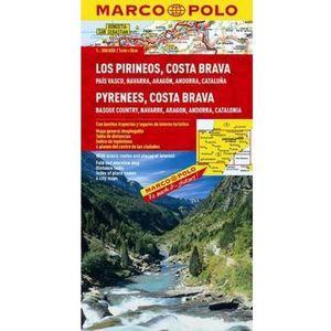 Hiszpania. Pireneje, Costa Brava 1:300 000. Mapa samochodowa, składana. Marco Polo (9783829737791)