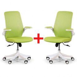 Krzesło biurowe z siatkowanym oparciem butterfly 1+1 gratis, zielone marki B2b partner