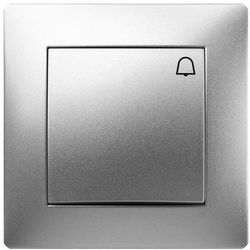 Przycisk dzwonek Elektro-Plast Volante z ramką srebrny, 2614-06