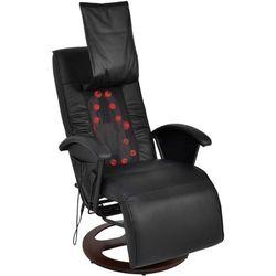 Vidaxl fotel masujący do masażu sziatzu 50% pu czarny