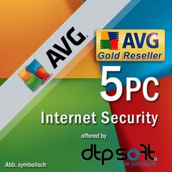 AVG Internet Security 5PC 2016 - oferta (4510de4003df57fa)