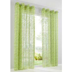 "Firana ""Vivien"" (1 szt.) bonprix zielony, kolor zielony"