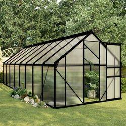 Vidaxl szklarnia, antracytowa, aluminium, 9,31 m² (8719883813998)