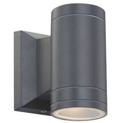 Globo Zewnętrzna lampa ścienna gantar 32028  aluminiowa oprawa elewacyjna led ip44 outdoor tuba grafitowy