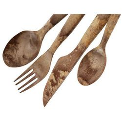 Kupilka cutlery set 4 pieces, brązowy 2021 sztućce turystyczne (6430014971708)