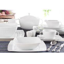 Lubiana victoria - serwis obiadowy 87 części na 12 osób biała marki Lubiana / victoria
