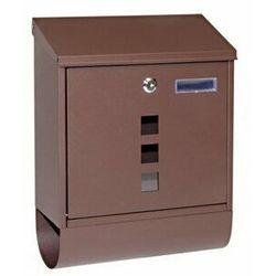 Stalowa skrzynka pocztowa z okienkami i tubą BK.203.HM (8592218036718)