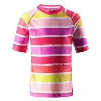 Koszulka Reima kąpielowa Fiji UV różowa/paski (supreme pink) z kategorii Pozostała moda i styl