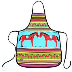Pracownia artystyczna Fartuszek kuchenny z nadrukiem ludowym - koniki, zabawka ludowa (3)