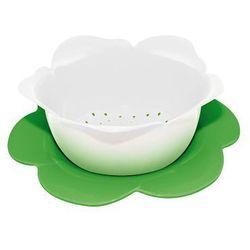 Durszlak z podstawką duży Zak! biało-zielony   ODBIERZ RABAT 5% NA PIERWSZE ZAKUPY >>