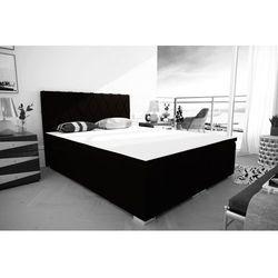 """Łóżko kontynentalne """"RIVIERA"""" 180x200 - ciemny brąz"""