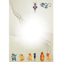 Wally - piękno dekoracji Tablica magnetyczna suchoscieralna dla dzieci zwierzęta 128