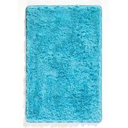 Bonprix Dywaniki łazienkowe ze sztucznym futerkiem i pianką memory niebieskozielony