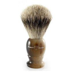 Pędzel do golenia  1ej872, borsuk best, uchwyt imitacja jasnego rogu od producenta Edwin jagger