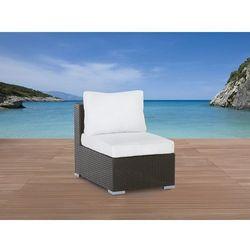 Pojedyńczy rattanowy fotel bez podłokietników z poduchami - GRANDE (7081452179110)