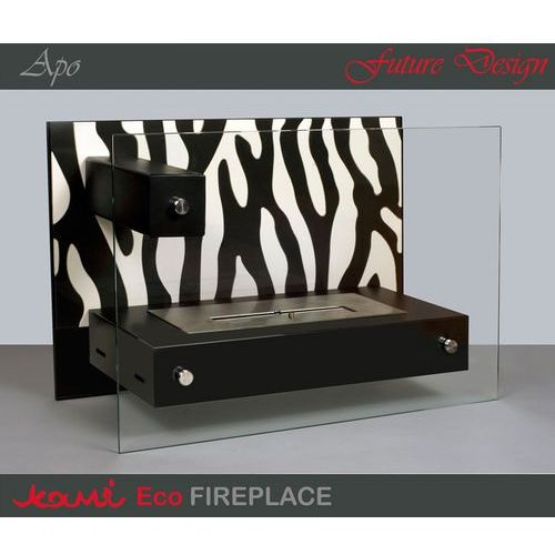 Biokominek Apo Zebra Black by , Kami