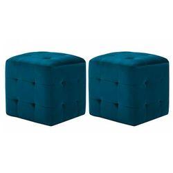 Elior Zestaw niebieskich pikowanych puf - zauri 4x