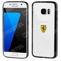 FERRARI FEHCS7BK oryginalne etui hard case Samsung Galaxy S7 G930 czarne przezroczyste (Futerał telefoniczny)