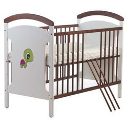 Łóżeczko dziecięce 120x60 Wujec Zbyszek Żółwik olcha