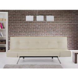 Rozkladana sofa bezowa ruchome podlokietniki BRISTOL ze sklepu Beliani
