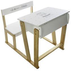 Atmosphera créateur d'intérieur Stolik z krzesełkiem dla dziecka, krzesełko i stolik dla dziecka, stolik drewniany, stolik konsola, stolik edukacyjny, białe biurko