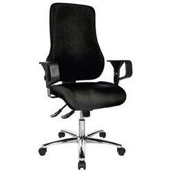 Obrotowe krzesło operatora, z podłokietnikami,wys. oparcia 600 mm