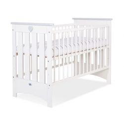 Łóżeczko dla niemowląt, lorenzo iii / biało - szare, 60x120cm, dostawa gratis! marki My sweet baby