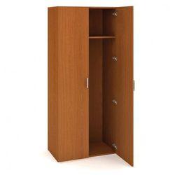 Szafa szatniowa drzwiowa uni, 800 x 420 x 1850 mm, czereśnia marki B2b partner